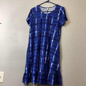 Est 1946 blue tie dye dress with pockets size M
